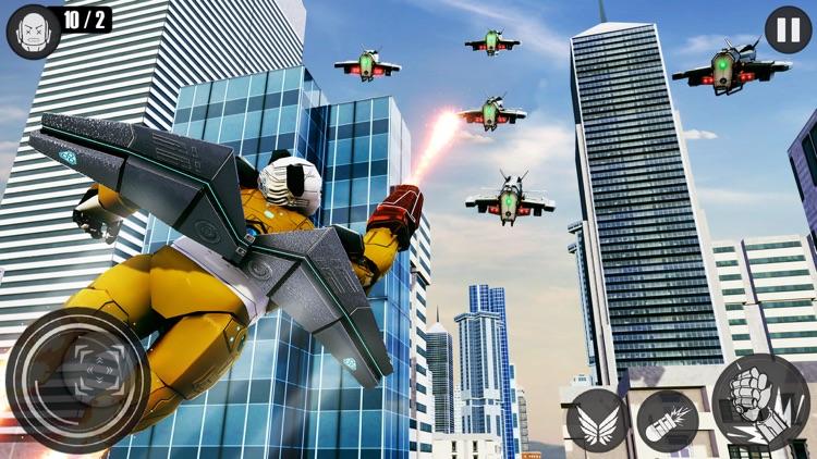 Flying Panda Robots War Battle