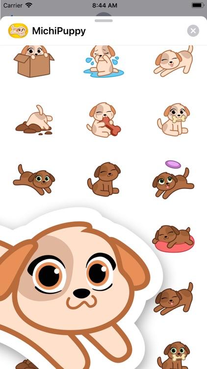 Michi Puppy- Cute Dog Stickers screenshot-3