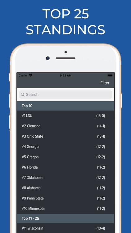 Connecticut Football Schedules screenshot-5