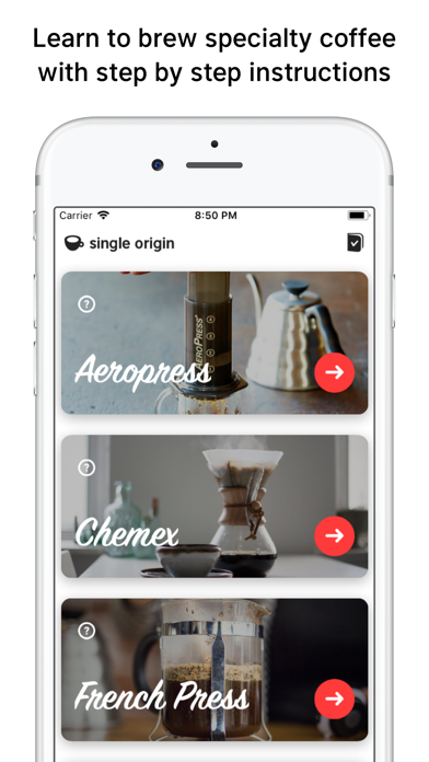 Single Origin - Coffee Timer Screenshots