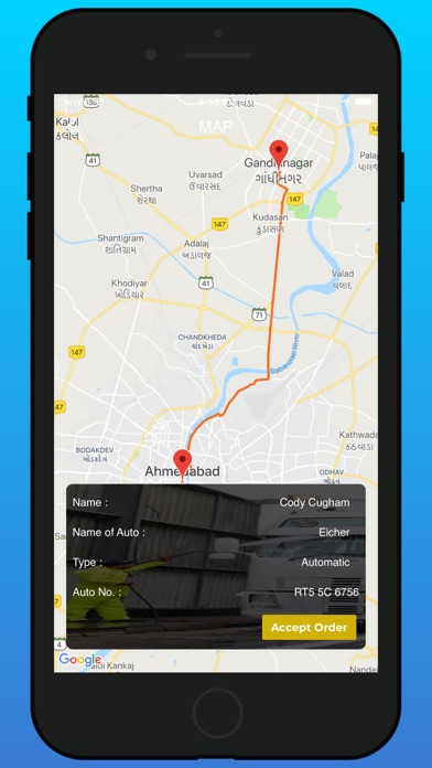 Screenshot of Truck Wash Provider App