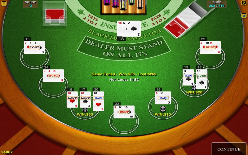 BlackJack Multi-Hand for Mac