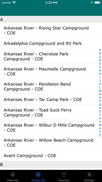 Arkansas – Camping & RV Parks