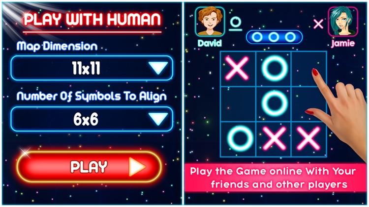Tic Tac Toe Glow Puzzle Game screenshot-4