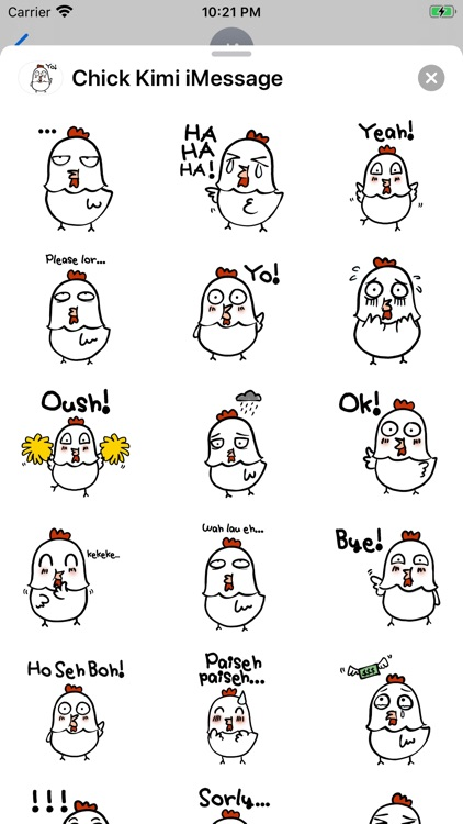 Chick Kimi Stickers screenshot-3