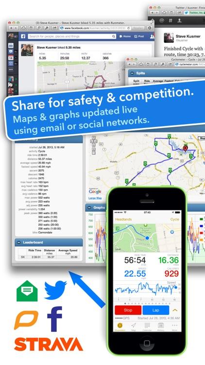 Cyclemeter Cycling Running GPS screenshot-3