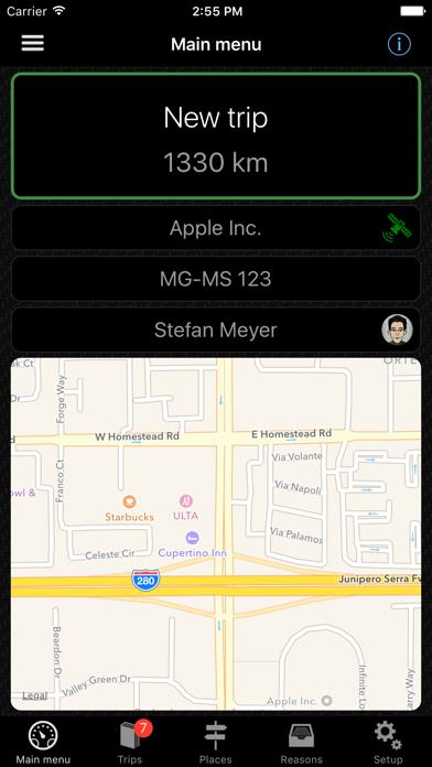 Screenshot for Mileage Log | Fahrtenbuch in Belgium App Store