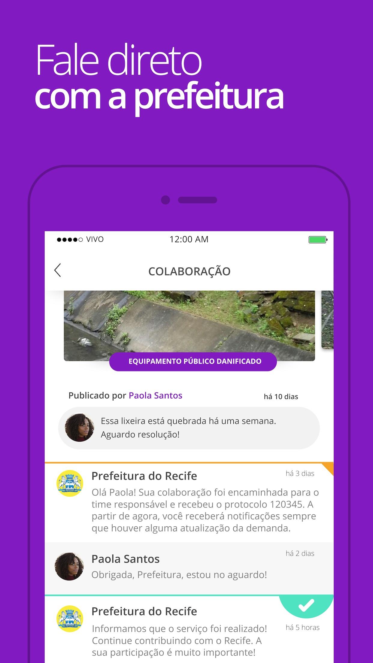 Screenshot do app Colab
