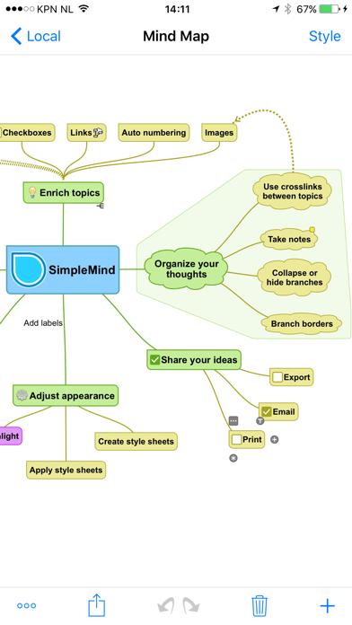 Simplemind Pro review screenshots