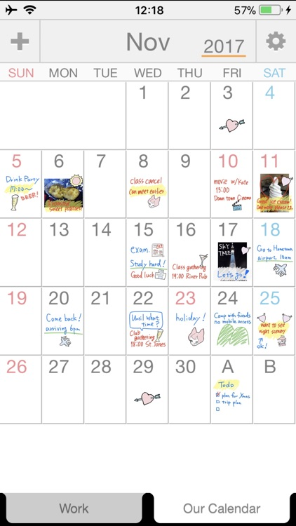 Palu - Handwriting Calendar -