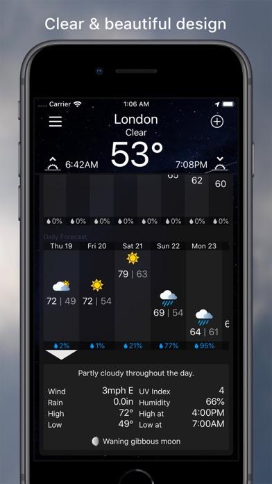 MWeather - Weather Forecast Screenshot