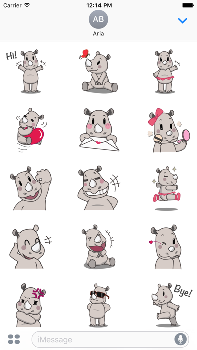 Cute Rhino RhinoMoji Sticker Screenshot