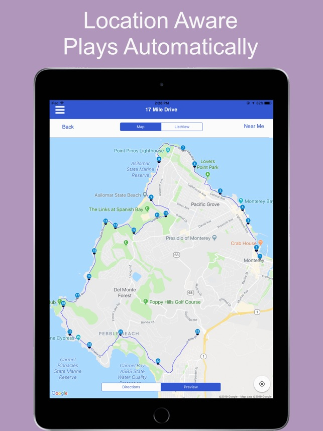 17 Mile Drive Tour Guide on the App Store  Mile Drive San Francisco Map on