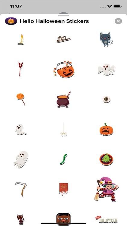 Hello Halloween Stickers screenshot-3