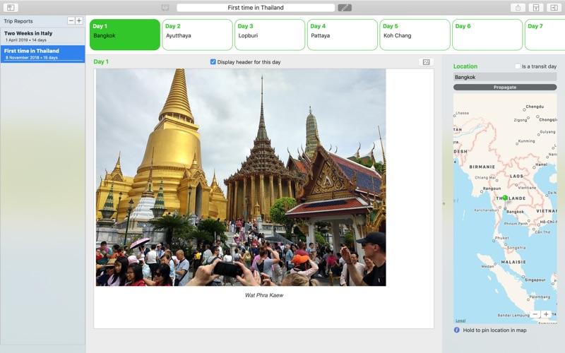 My Travels Reports скриншот программы 2
