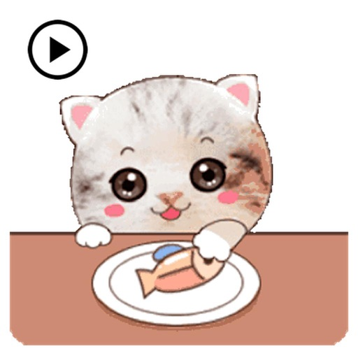 Animated So Cute Kitty Sticker