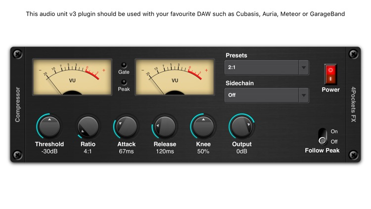 Audio Compressor AUv3 Plugin