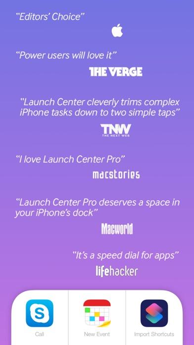 Launch Center Pro Screenshots