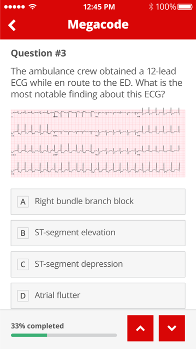 ACLS Pretest Screenshot