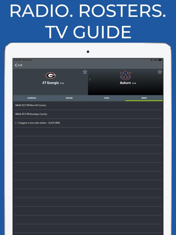 College Football App Screenshots