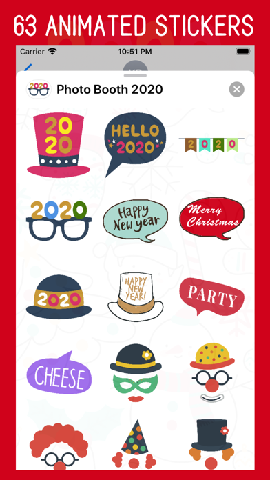 Photo Booth 2020 Stickers screenshot one