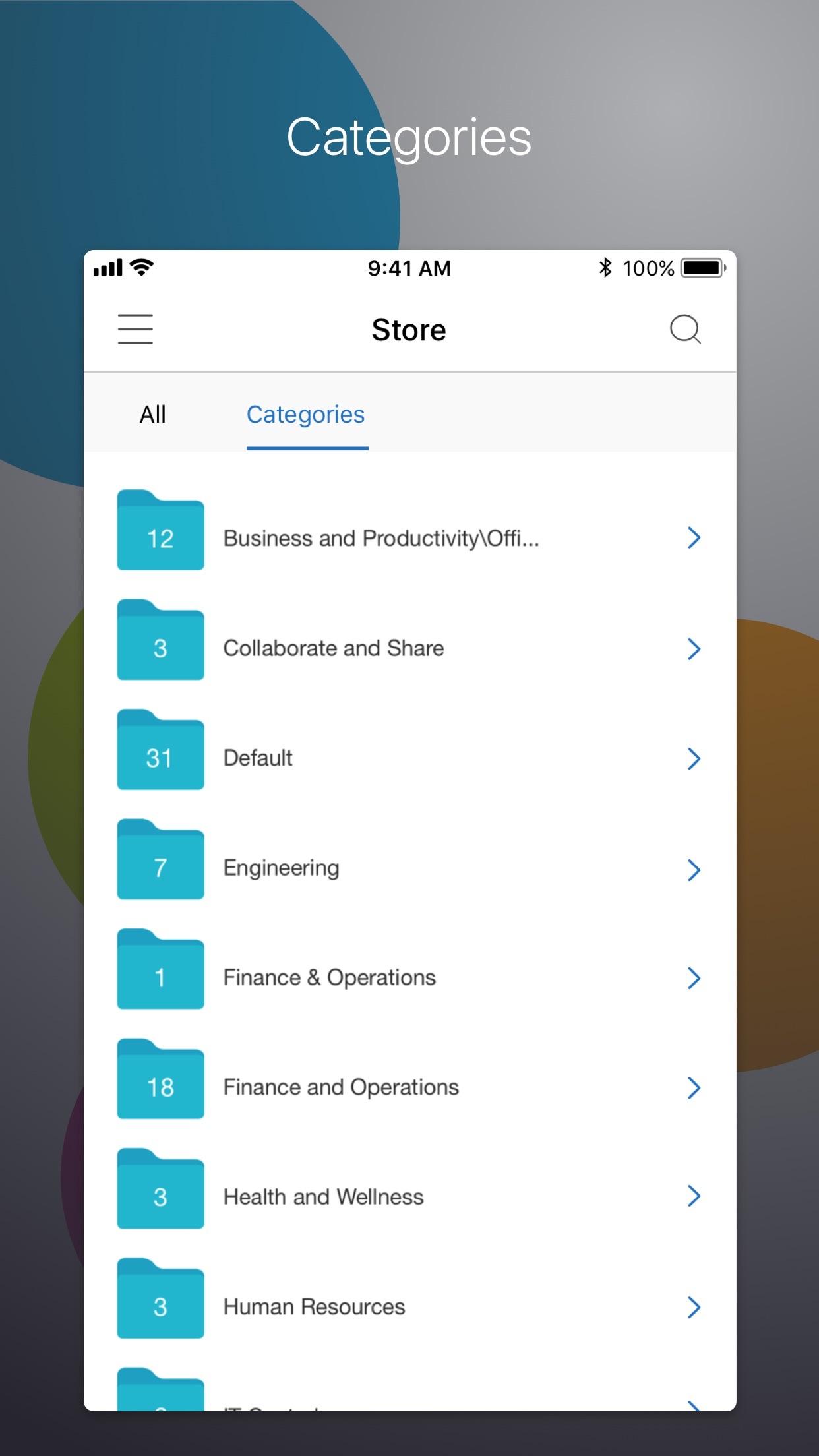 Citrix Secure Hub Screenshot