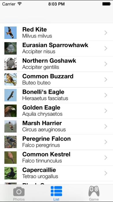 Birds Songs App, ornithology Screenshot