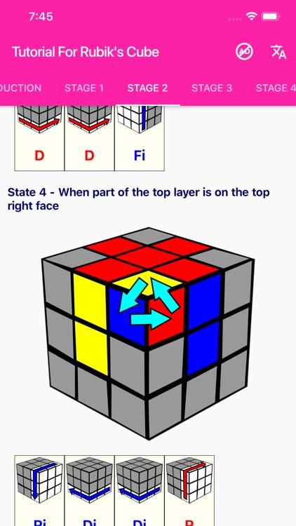 Tutorial For Rubik's Cube screenshot-3