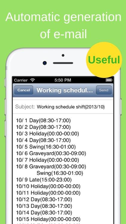 Shift Planning Calendar Pro screenshot-4