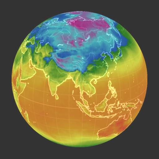 3D Global Temperature icon