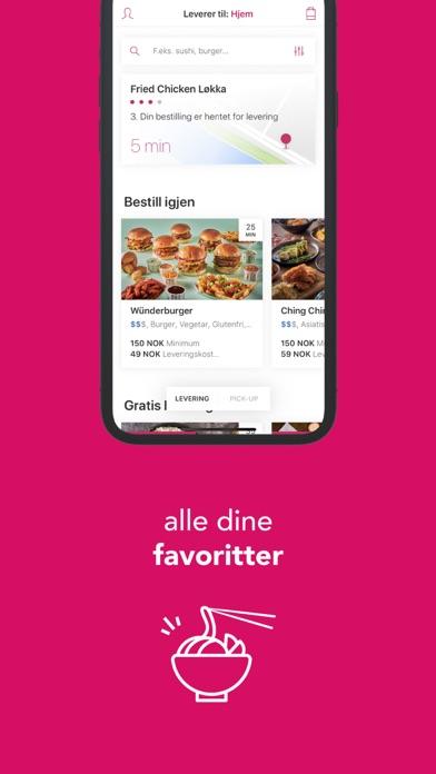 foodora - mat levert hjem iPhone app afbeelding 6