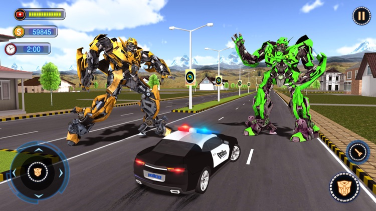 Fighting Robot Car Chase 2020
