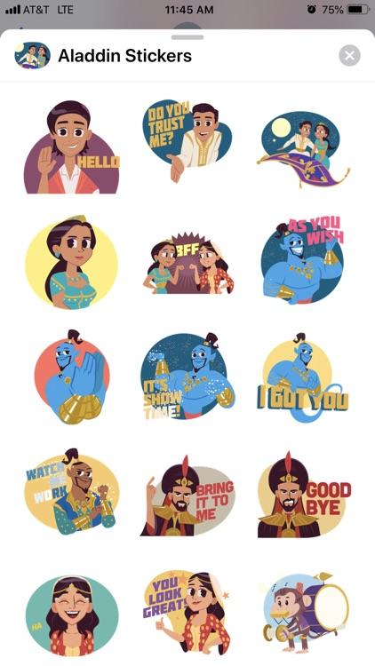 Disney Stickers: Aladdin