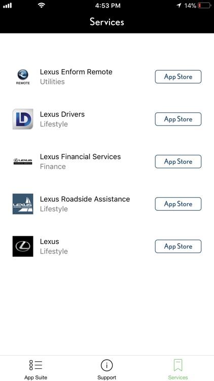 Lexus Enform App Suite 2.0