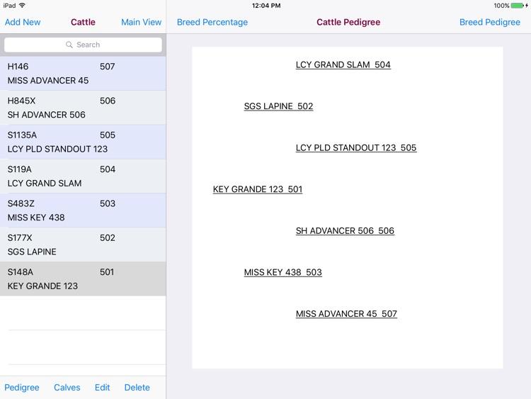 Cattle Pedigree Database screenshot-3