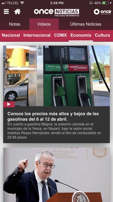 Screenshot for ONCE NOTICIAS in Mexico App Store