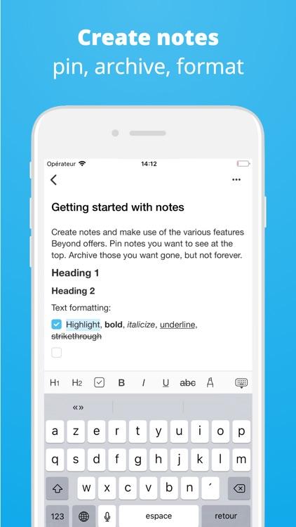 Beyond - Tasks, Habits, Notes screenshot-7