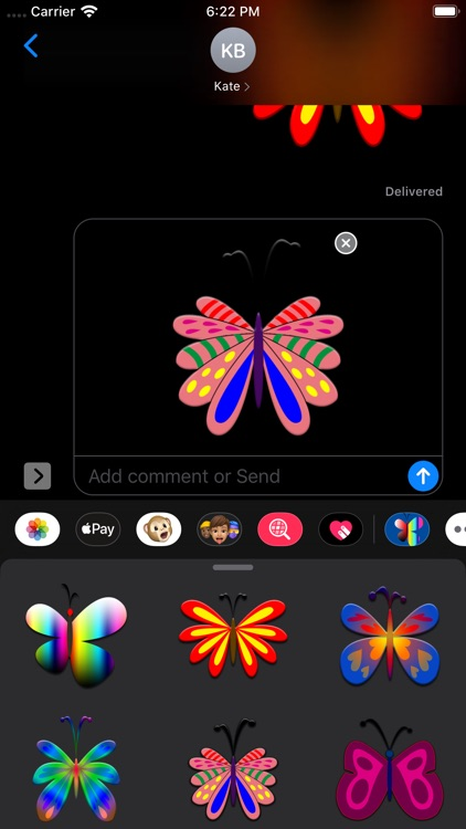 Butterflies Stickers screenshot-8
