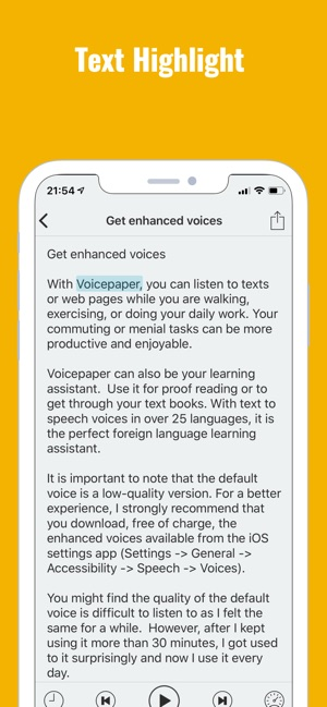 Text to Speech Voicepaper 2 on the App Store
