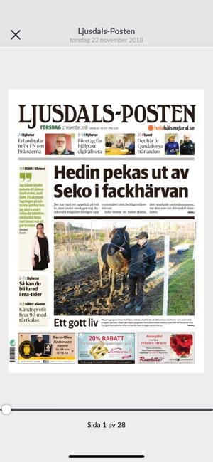Ljusdals Posten E Tidning I App Store