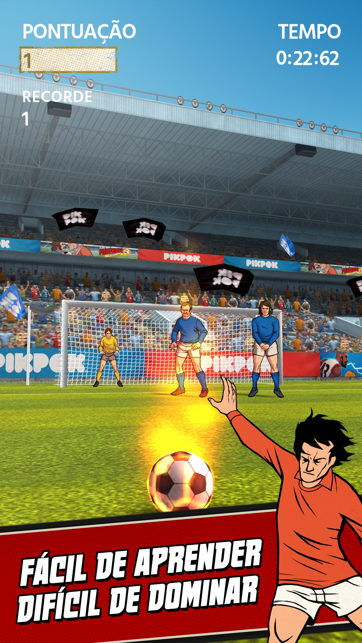 Screenshot do app Flick Kick Football