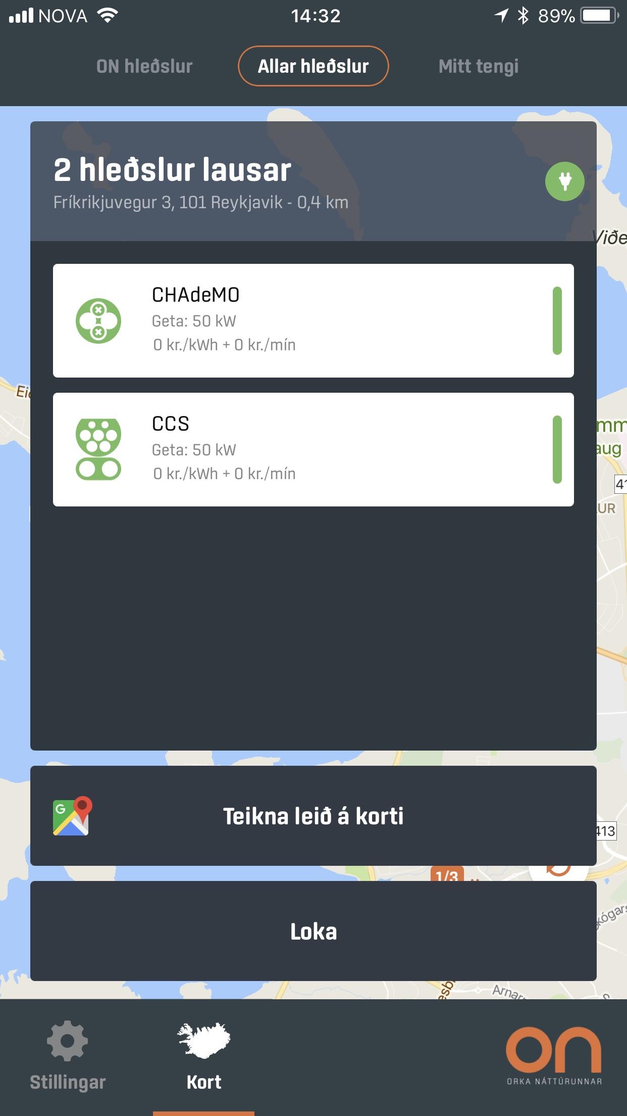 ON Hleðsla Screenshot