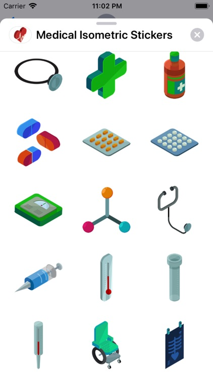 Medical Isometric Stickers