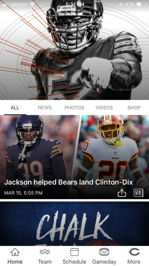 reputable site e8bb9 c4d4a Chicago Bears Official App on the App Store