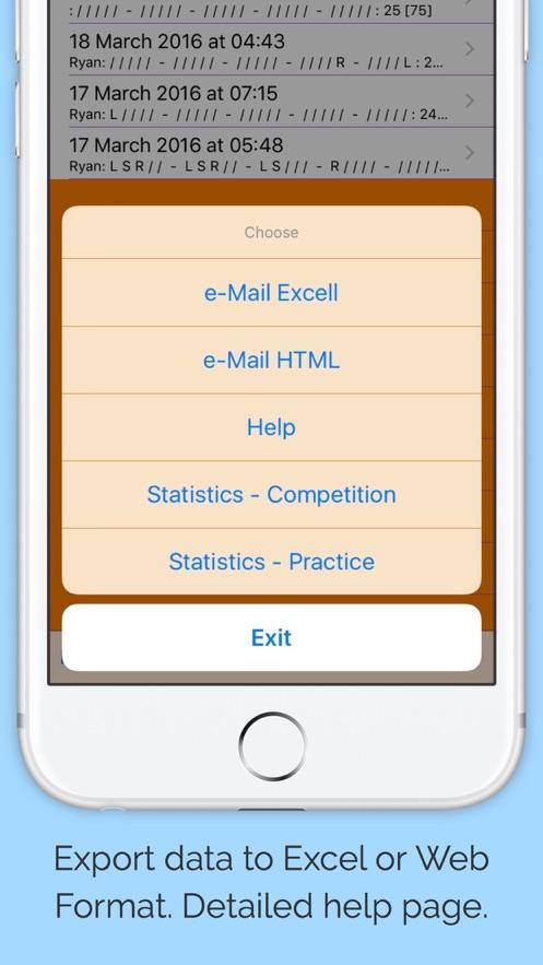 Clay Shooting Score Card Pro App 截图