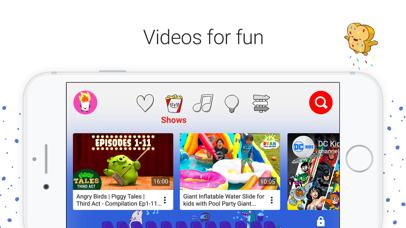 YouTube Kids Screenshot on iOS