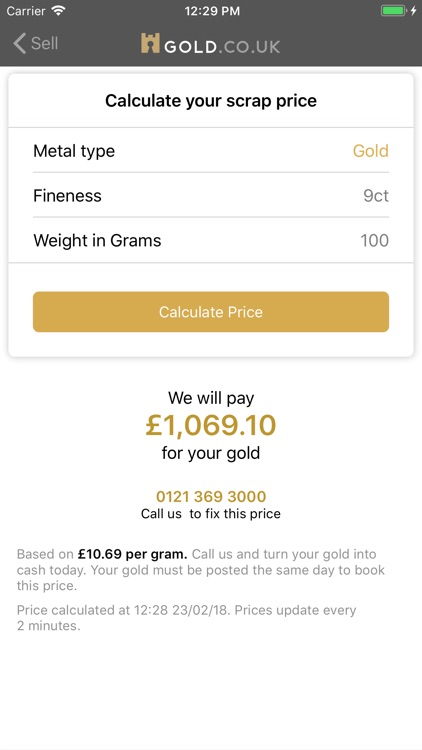 Live Gold Price - Gold.co.uk screenshot-5