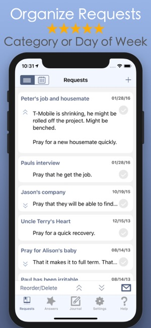 Prayer Notes: Ask, Seek, Knock on the App Store