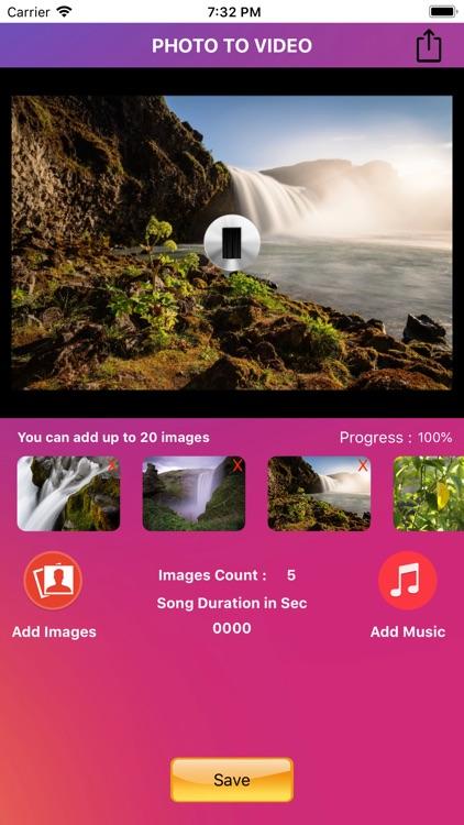 PhotoSlide - Photo to Video screenshot-3