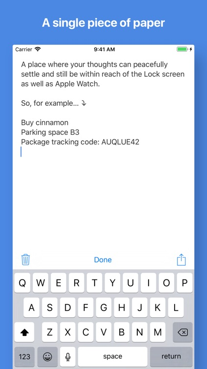 Quick Notes with widget